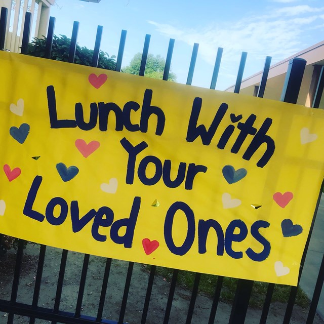 Banner for Stanford's first Lunch with Loved Ones.