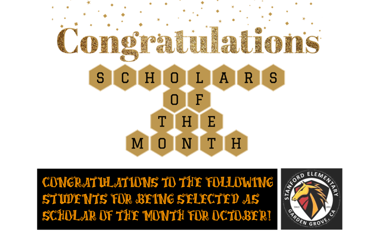 Scholars of the Month for October - article thumnail image