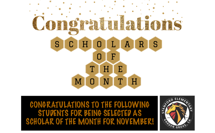 Scholars of the Month for November - article thumnail image