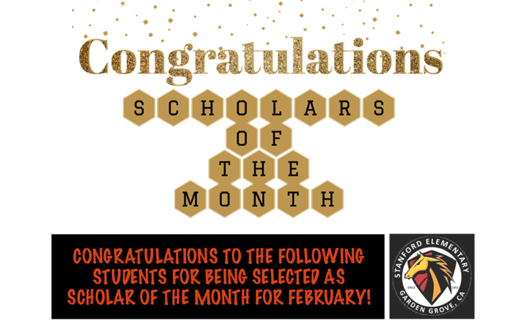 Scholars of the Month for February - article thumnail image