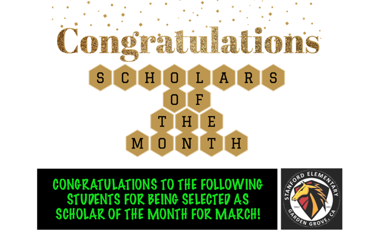 Scholars of the Month for March - article thumnail image