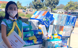 Student delivers PPE to Stanford for Girl's Scout Project - article thumnail image